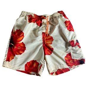 Vintage Tommy Hilfiger Floral Swim Shorts